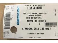 2 x Liam Gallagher Standing Tickets Belfast Odyssey Arena