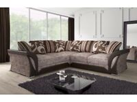 BLACK GREY OR BROWN COLOR! New SHANNON Corner Or 3 + 2 Sofa, SWIVEL CHAIRS, Universal corner Sofa