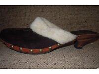 MIU MIU / PRADA SHEEPSKIN CLOGS SHOES