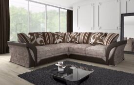 **SAME DAY DELIVERY** BRAND NEW SHANNON CORNER OR 3 AND 2 SEATER SOFA *SAME DAY CASH ON DELIVERY*