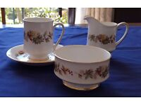 Bone China Coffee Set - Royal Standard Lyndale Pattern - 12 piece