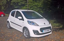 Peugeot 107 1.0 Allure: Air Con, Alloys, MOT til March, Full Peugeot Service History, One Lady Owner