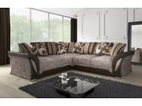 BEST OFFER** LUXURIOUS NEW SHANNON CORNER OR 3 AND 2 SEATER SOFA, DUAL ARM CORNER, SWIVEL CHAIR