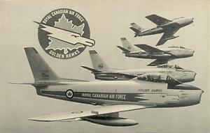 Carte postale / Militaire / Air force / Golden hawks / RCAF