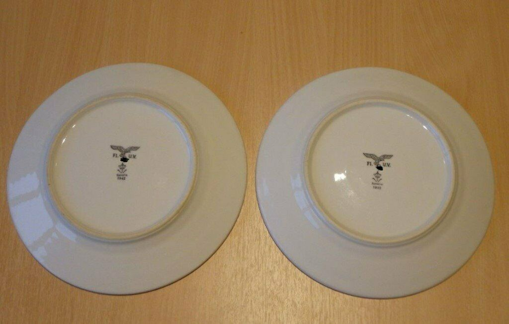 Pair of German WW2 Luftwaffe Mess Hall Plates - Bavaria 1942   in Epsom,  Surrey   Gumtree