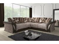 pay on your door - stylish looking large right or left hand shannon corner sofas - cheap price