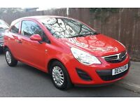 2012 Vauxhall Corsa S Eco Flex, Very Low Mileage only 23,500 miles, Lady Owner, Red, Outstanding