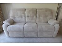 G-Plan MISTRAL three piece suite – 3 seater sofa and 2 recliner chairs, immaculate condition