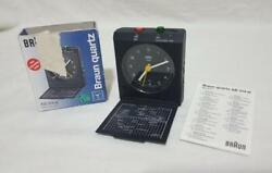Vintage Braun ab314sl Quartz Travel Alarm Clock Germany Working