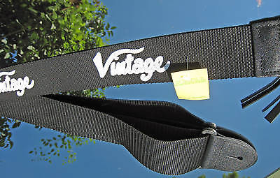 Vintage Nylon GITARRENGURT GITARRENBAND m. Pic Tasche
