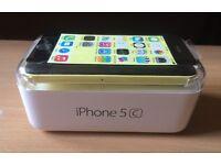 Apple iPhone 5C. Yellow. 16GB. EE network. Orange. T-Mobile networks