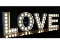 4ft Illuminated LOVE Letters