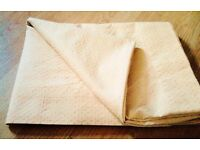 Cream with Gold Stitch Table Cloth Table Runner[160cmx120cm].