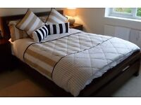 Quilted bed throw, pillowcases + matching cushions LIKE RALPH LAUREN!