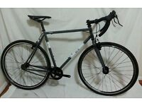 REID SSCX Single Speed Fixie Cyclocross Bike Size Large