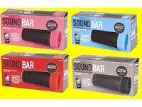 BNIB Bluetooth SoundBar Blue Pink Black Red Music Speaker Party Sound Home Office Phone Bar Party