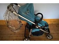 Icandy cherry travel system . I candy pushchair with carry cot . Pram . Buggy