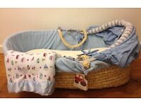 Kiddi Care 'Busy Tractor' Moses basket- Second hand