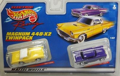HO Slot Car - Tyco 440x2 Magnum Twin Pack - '57 T-Bird & '57 Chevy - 36937