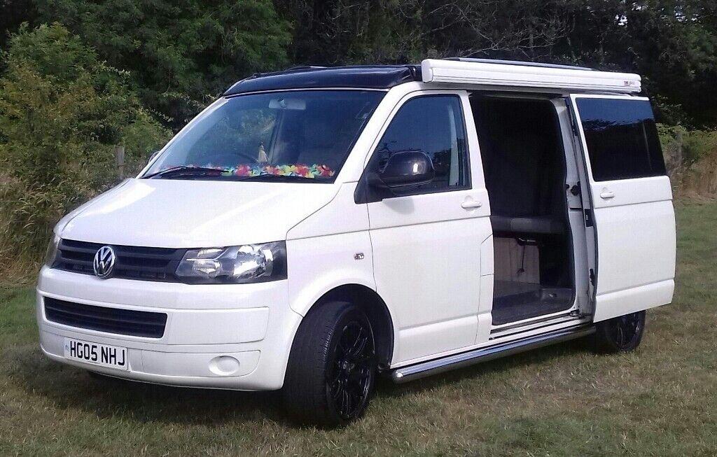 VW Campervan T5 4 Berth , 5 Seatbelts | in Sidmouth, Devon | Gumtree