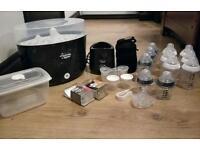 Tommee Tippee Electric Steriliser and bottle warmer set black VGC