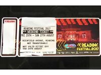 Reading Festival Weekend (with camping) ticket