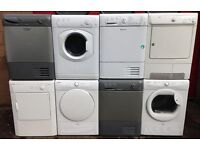 £100 Huge Selection of Tumble Dryers - 6 Months Warranty