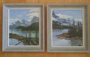 Oakville WATERTON LAKES AB & BC Original Oil Paintings Beautifully done Gorgeous colors Wood Framed Group of Seven Art