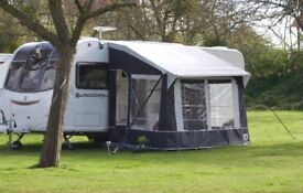 DOREMA QUATTO 250 PORCH AWNING EASY TO ERECT WITH ALUMINIUM FRAME AND PEGS