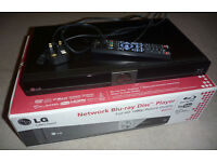 LG Bluray Player, boxed and in excellent condition