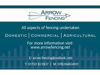 Arrow Fencing - All aspects of fencing undertaken