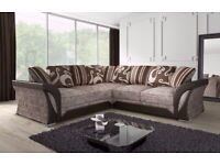 💖SUPERB QUALITY🔵-SHANNON SOFA FABRIC And FAUX LEATHER LEFT OR RIGHT CORNER - 3+2 SEATER