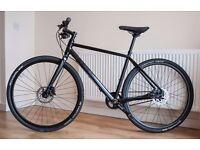 Great Silent Cube Hyde Race Urban Hybrid Road Bike, Shimano Alfine Gates Carbon Drive Belt, Size 50