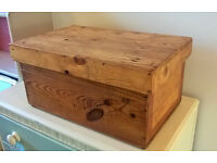 Rustic small storage chest