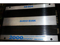 2x Car Amplifiers, amps for speakers & subs (not JL Audio, MTX, Pioneer, Alpine, Sony) ICE, bass