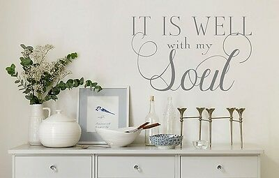 It is well with my Soul-Vinyl Wall Quote Decal Lettering Art-Scripture