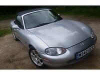 *LOW MILEAGE* 2001 MAZDA MX-5 SILVER 1.6i MK2 - 10 MONTH MOT - NEW BRAKES & TYRES - UK CAR