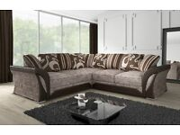 ** 28 DAY CASH BACK GURNTY ** SHANNON LARGE ITALIAN STYLE SOFAS == CORNER 0R 3+2 + QUICK DROP