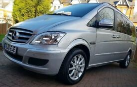 Mercedes viano vito 2.1cdi 8 seater chauffeur used full leather reclining seats
