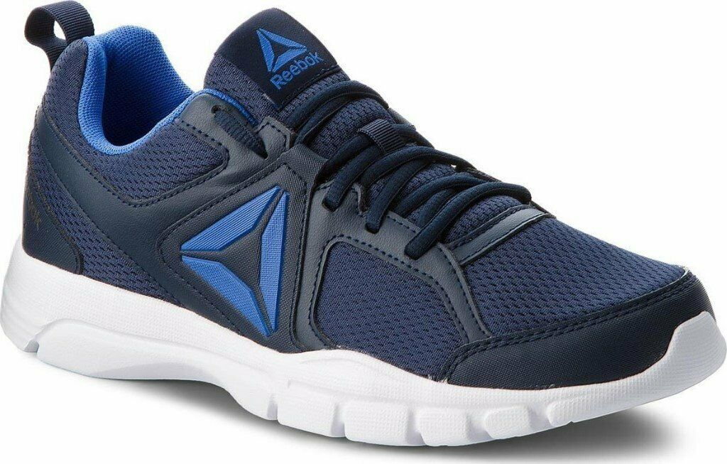 644430fa3dee brand new in the box mens reebok 3D fusion trainers size 12 blue has small  mark on front