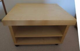 Ikea TV stand/media unit/coffee table in beech finish