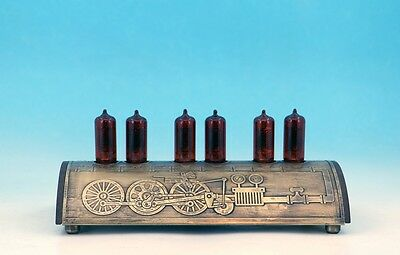 UNIQUE STEAMPUNK VINTAGE RETRO INDUSTRIAL MACHINERY BRASS NIXIE TUBE CLOCK Z570M