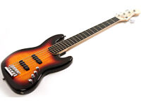 Fender Squier Deluxe Jazz Bass, 5-string. With strap. Used twice.