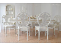 !!! GREAT DEAL !!! PRICE REDUCTION !!! *** Antique Shabby Chic Dining Dining Table & 6 Chairs !!!