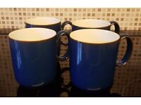 4 x Denby Imperial blue mugs (Immaculate condition)