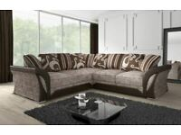 Only Quality Items-SHANNON SOFA FABRIC And FAUX LEATHER LEFT OR RIGHT CORNER - 3+2 SEATER