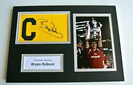 Bryan Robson hand signed with COA