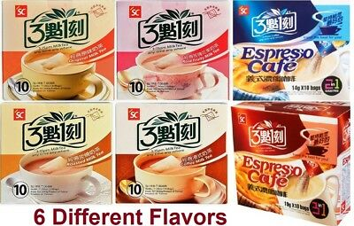 3:15pm Instant Milk Boba Bubble Tea 10 bags  6 Different Flavors Free Shipping (6 Flavors Tea Bags)
