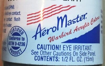 AEROMASTER WARBIRD ACRYLIC COLORS 1232 LT. BLUE 15ml NUOVO