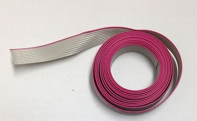 Flat Cable 10 Pin 10 Wires Idc Ribbon Roll 6 Ft. Long 12mm Wide